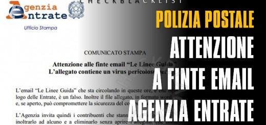 False e-mail Agenzia Entrate
