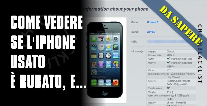 come vedere se iphone rubato